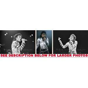 MICHAEL JACKSON DANGEROUS TOUR ON STAGE (3) RARE 8x10 FINE
