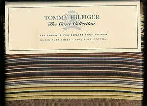 TOMMY HILFIGER BEEKMAN QUEEN FLAT SHEET