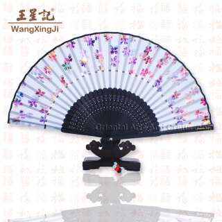 High Quality Chinese Hand Folding Fan Pocket Gift Asian Flower