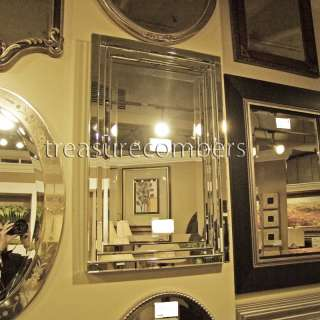 CHIC Large Frameless Beveled Mirrored Edge WALL MIRROR