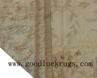 x10Hand woven Wool French Aubusson Flat Weave Rug~Brand New~Free