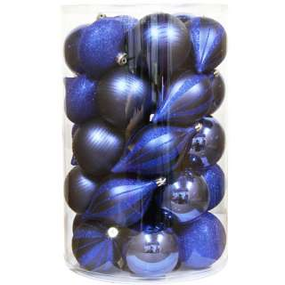 Holiday Time 35 Piece Shatterproof Christmas Ornaments