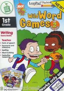 Game Books   Rugrats Wild Word Games LeapPad 708431303270