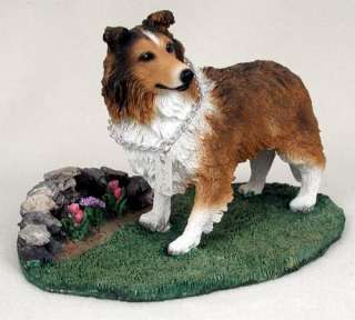 Sheltie Sable Statue Figurine Home & Garden Decor. Dog Products & Dog