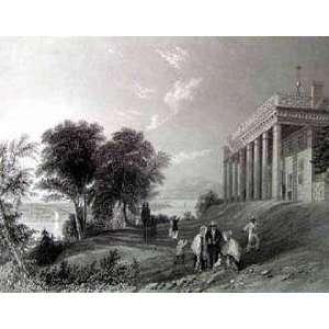 Print   Washington, Mt Vernon, 1839   Artist William Henry Bartlett