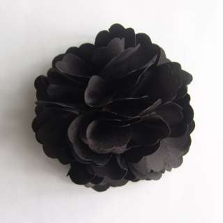 Silky Rose Flower Hat Hair Clip Brooch Pin 14 Colors