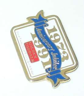 GOLDEN CORRAL JUBILEE LAPEL PIN~1973  1991