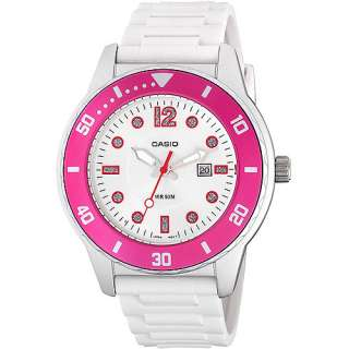 Casio Ladies Sport Watch, White with Pink Accents