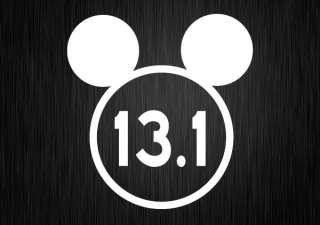 13.1 DISNEY Marathon VINYL DECAL Car Bumper Sticker