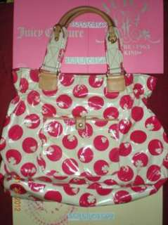 Juicy Couture Red Polka Dot Lucky Beach Tote Handbag Shoulder Bag XL
