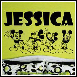 Name MICKEY MOUSE Vinyl Wall Decals Stickers Art #048