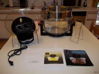 SHARPER IMAGE SUPER WAVE OVEN NEVER USED RECIPE BOOK INSTRUCTIONS