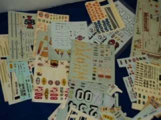 Vintage AMT MPC Revell Model Car Kit Decals Decal Sheet Huge Lot
