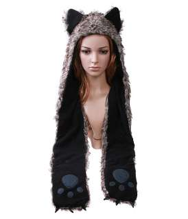 Cartoon Animal Cap Timber Wolf Plush Soft Warm Hat H2784