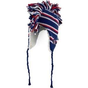 New York Rangers Old Time Hockey Blue Mohawk Sherpa Lined Alpine Hat