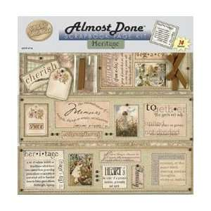 Almost Done Scrapbook Page Kit   Heritage Arts, Crafts