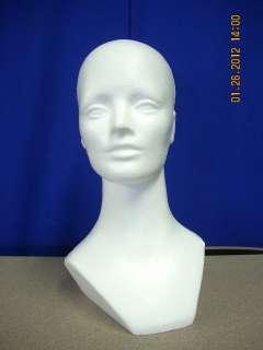 #865 (15 1/2 TALL ) STYROFOAM MANNEQUIN TARGET SHOOTING HEAD