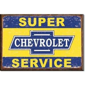 Service Distressed Retro Vintage Refrigerator Magnet: Home & Kitchen