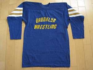 NEW YORK 70s vtg BROOKLYN WRESTLING jersey SHIRT medium
