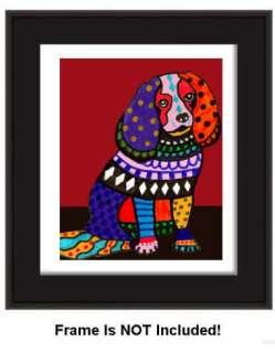 PRINT Cavalier King Charles Spaniel Dog Painting Poster