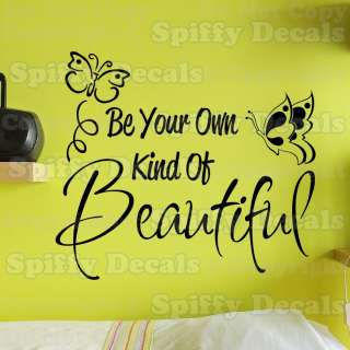 OF BEAUTIFUL BUTTERFLY Quote Vinyl Wall Decal Sticker Art Decor