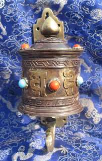 tibetan buddhist mani prayer wheel wall hanging nepal