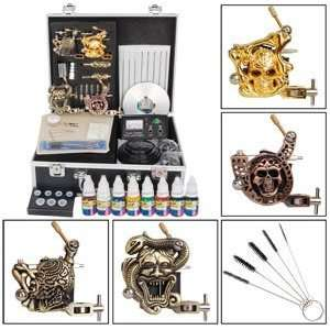 Stunning Skull Series 4 Guns Tattoo Tattooing Supply Machine Equipment