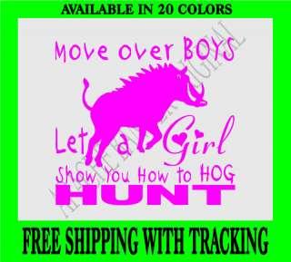 HOG HUNTING DECAL GIRL Boar,Pig,Javelina Hunting 2038